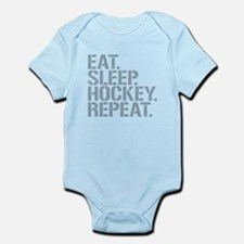 Eat Sleep Hockey Repeat Body Suit