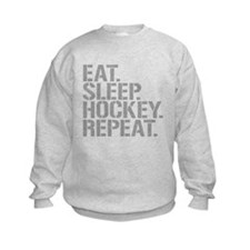 Eat Sleep Hockey Repeat Sweatshirt