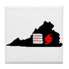 Hurricane Charley Tile Coaster