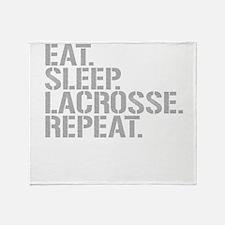 Eat Sleep Lacrosse Repeat Throw Blanket