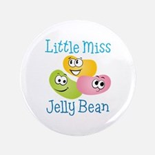 """Little Miss Jelly Bean 3.5"""" Button"""
