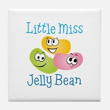 Little Miss Jelly Bean Tile Coaster