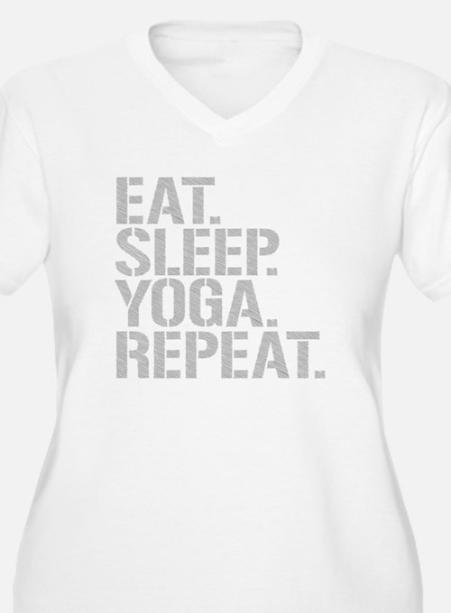 Eat Sleep Yoga Repeat Plus Size T-Shirt