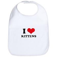 I Heart Kittens Bib