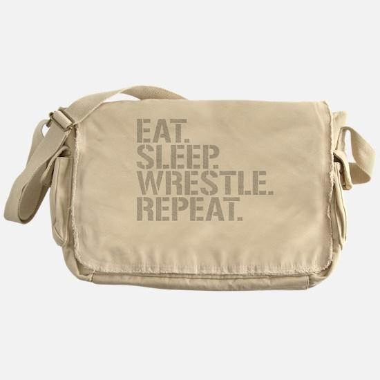 Eat Sleep Wrestle Repeat Messenger Bag