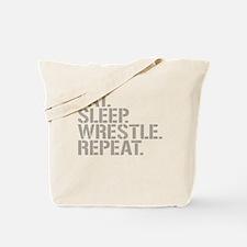 Eat Sleep Wrestle Repeat Tote Bag