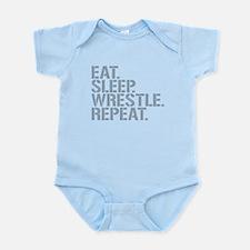 Eat Sleep Wrestle Repeat Body Suit