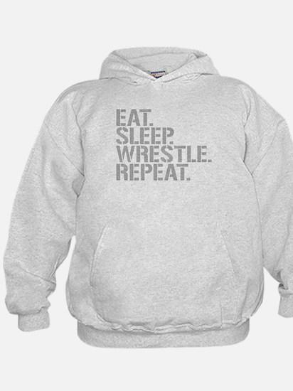 Eat Sleep Wrestle Repeat Hoodie