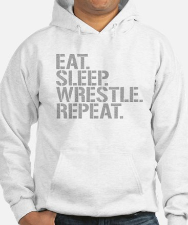 Eat Sleep Wrestle Repeat Hoodie