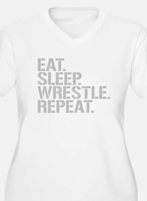 Eat Sleep Wrestle Repeat Plus Size T-Shirt