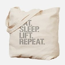Eat Sleep Lift Repeat Tote Bag
