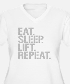 Eat Sleep Lift Repeat Plus Size T-Shirt