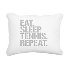 Eat Sleep Tennis Repeat Rectangular Canvas Pillow