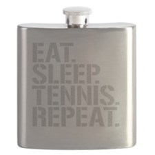 Eat Sleep Tennis Repeat Flask