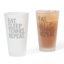 Eat Sleep Tennis Repeat Drinking Glass