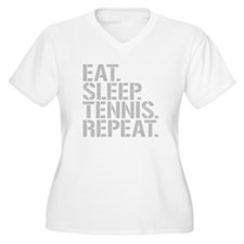 Eat Sleep Tennis Repeat Plus Size T-Shirt