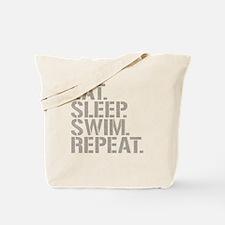 Eat Sleep Swim Repeat Tote Bag