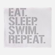 Eat Sleep Swim Repeat Throw Blanket