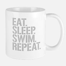 Eat Sleep Swim Repeat Mugs