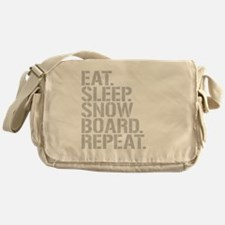 Eat Sleep Snowboard Repeat Messenger Bag