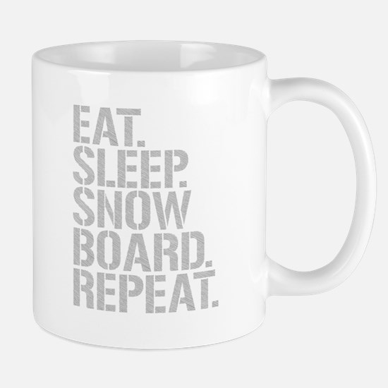 Eat Sleep Snowboard Repeat Mugs