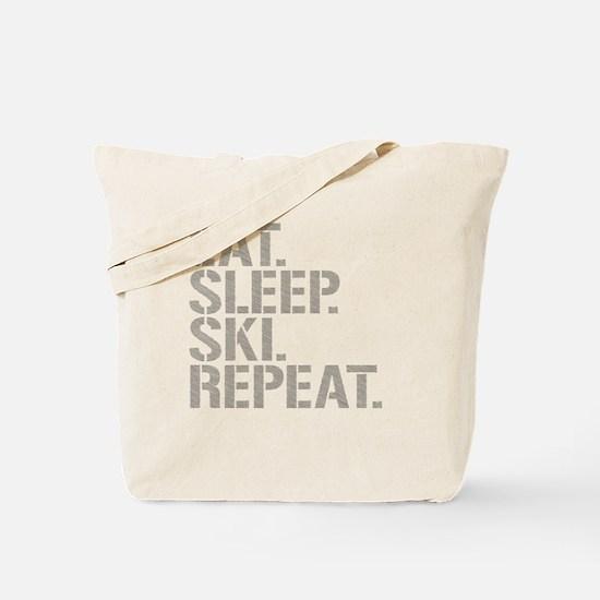 Eat Sleep Ski Repeat Tote Bag