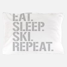 Eat Sleep Ski Repeat Pillow Case