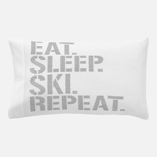 Eat Sleep Ski Repeat Pillow Case