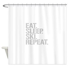 Eat Sleep Ski Repeat Shower Curtain