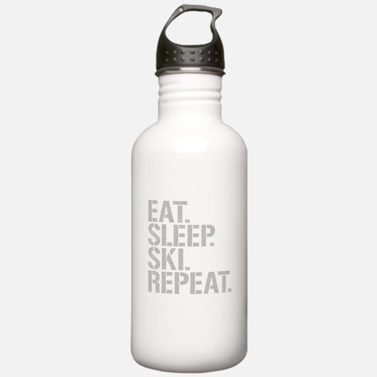 Eat Sleep Ski Repeat Water Bottle
