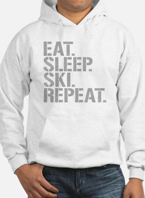 Eat Sleep Ski Repeat Hoodie