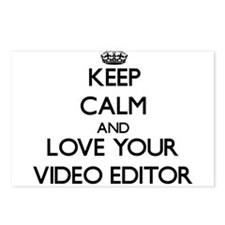Keep Calm and Love your Video Editor Postcards (Pa