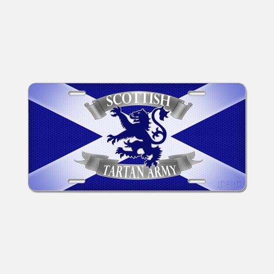 tartan army range  Aluminum License Plate