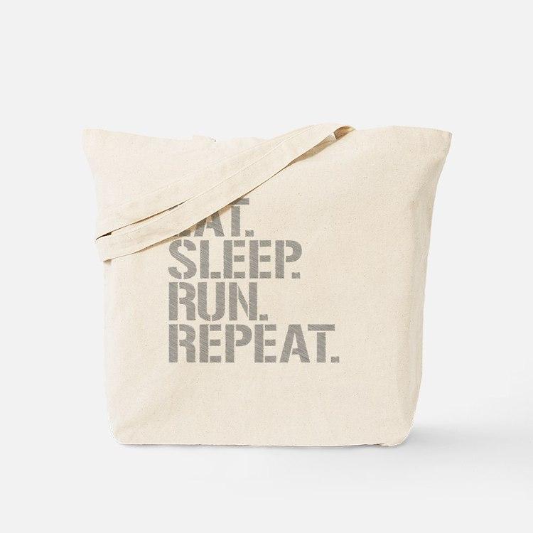 Eat Sleep Run Repeat Tote Bag