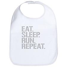 Eat Sleep Run Repeat Bib