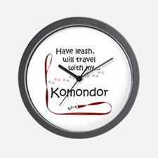 Komondor Travel Leash Wall Clock