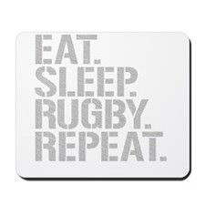 Eat Sleep Rugby Repeat Mousepad