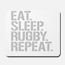Eat Sleep Rugby Repeat Mousepad
