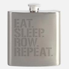 Eat Sleep Row Repeat Flask