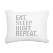 Eat Sleep Hunt Repeat Rectangular Canvas Pillow