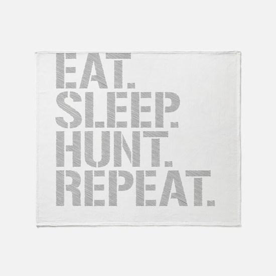 Eat Sleep Hunt Repeat Throw Blanket