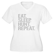 Eat Sleep Hunt Repeat Plus Size T-Shirt