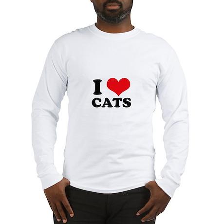I Heart Cats Long Sleeve T-Shirt