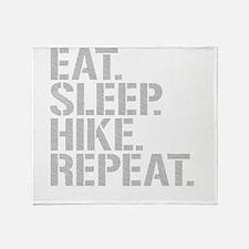 Eat Sleep Hike Repeat Throw Blanket
