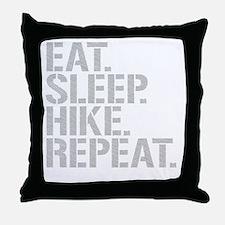 Eat Sleep Hike Repeat Throw Pillow