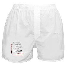 Kuvasz Travel Leash Boxer Shorts