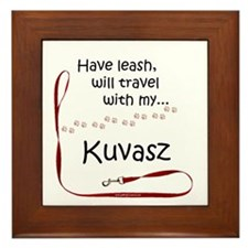 Kuvasz Travel Leash Framed Tile