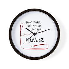 Kuvasz Travel Leash Wall Clock