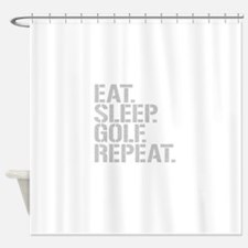 Eat Sleep Golf Repeat Shower Curtain