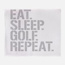 Eat Sleep Golf Repeat Throw Blanket